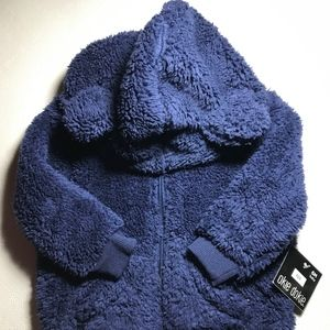 NWT Okie Dokie Hooded Zippered Hoodie with Ears